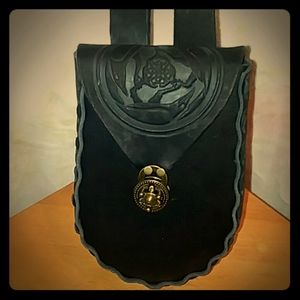 Celtic Raven belt pouch